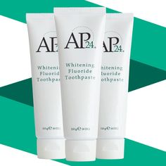 AP 24 Anti-Plaque Fluoride Toothpaste uses a safe, gentle form of fluoride to remove plaque and protect against tooth decay. Nu Skin, Ap 24 Whitening Toothpaste, Stained Teeth, Cosmetic Items, Waterproof Makeup, Oral Hygiene, Teeth Cleaning, Beauty Shop, Cavities