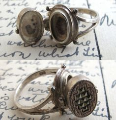 Erica Weiner Jewelry - Vintage Silver and Pyrite Poison Ring ($200-500) - Svpply