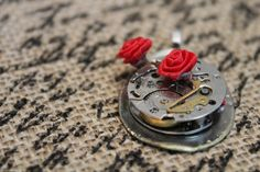 The utmost in steampunk - repurposed silver plated spoon, watch and paper roses, just in time for Valentines day. Included is a sterling silver necklace. Steampunk Emporium, Paper Roses, Sterling Silver Necklaces, Silver Plate, Spoon, Repurposed, Etsy Seller, Rings For Men, My Etsy Shop