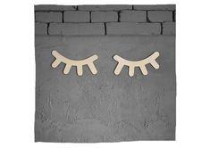 """Wunderschöne """"Schlafende Augen"""" aus Holz - perfekt für Wand, Tür oder Möbel. Symbols, Letters, Products, Dark, Work Shop Garage, Eyes, Handarbeit, Letter, Lettering"""