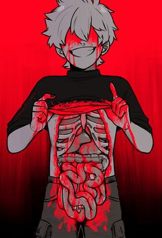 Not a gore fan but this is really well made so I'll give it a pass. Arte Horror, Horror Art, Anime Manga, Anime Art, Candy Gore, Vent Art, Dark Drawings, Baguio, Creepy Cute