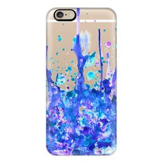 iPhone 6 Plus/6/5/5s/5c Case - Dreamy Pastel Paint Splatter II ($40) ❤ liked on Polyvore featuring accessories, tech accessories, iphone case, apple iphone cases, iphone cover case and slim iphone case
