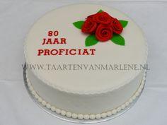 Verjaardag taart 80 jaar
