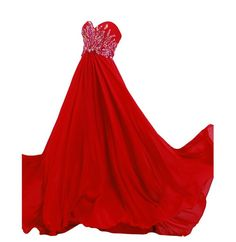 Queenworld Long Prom Dresses Strapless Beaded Chiffon for Evening and Prom US-6 Red. Have applied for trademark protection.We have our own label and package. The fabric is chiffon with Light,soft, smooth and straight features. Hand wash or Dry clean. Estimated Delivery is set automatically. You will receive it within 20 days totally.If you need a rush order, please contact with me freely. Can be used as Bridesmaid Dress,Evening Dress,Prom Dress,Party Dress and other various occasions.All…
