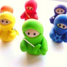 Set of 6 Rainbow Ninja Companions £25.00