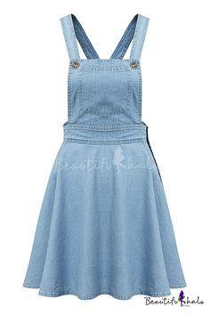 Light Blue Single Pockets Ruffle Hem Denim Dress I an a man and I want to wear that! Denim Dungaree Dress, Denim Jumper Dress, Blue Denim Dress, Denim Overall Dress, Jeans Dress, Denim Dresses, Topshop Denim Dress, Overall Skirt, Cute Dresses