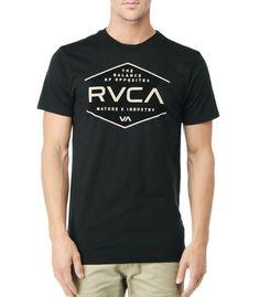 NATURE x INDUSTRY RVCA Mens : Tees / Tanks - Rvca Pure $27