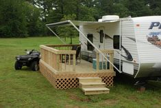 A mobile deck for your camper or RV, BRILLIANT!