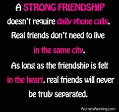 A strong friendship is...