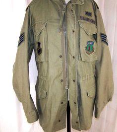 VTG Air Force COLD WEATHER FIELD JACKET 8415-00-782-2940 MED Long #Parka OG-107