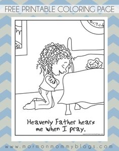 Cute Lds Prayer Coloring Page 51 Mormon Mommy Printables He