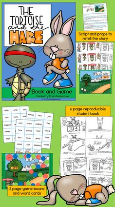 reproducible student book, story retelling kit, and fun reading game ...