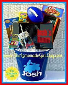 PERSONALIZED Easter Basket, Birthday Basket, Personalized Birthday Gift, Personalized Boy, Sports Birthday by TheLemonadeGirl, $40.00