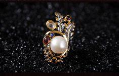 925シルバー natural  Baroque pearls Ring Tourmaline lapis lazuli Garnet Emerald(Etsy のmikaincより) https://www.etsy.com/jp/listing/573502362/925shirub-natural-baroque-pearls-ring