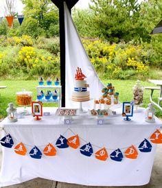 THREElittleBIRDS Events: Nautical Themed, First Birthday.