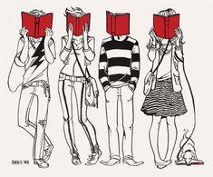 leyendo niños