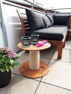 Kabeltrommel DIY Tisch basteln l Beistelltisch l Möbel bauen l Garten l Balkon
