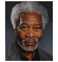 A portrait of Morgan Freeman - created by Corel Painter 12 and Wacom Tablet. Print siza : 60 cm X 43 cm Celebrity Portraits, Celebrity Photos, Morgan Freeman, Bill Cosby, Hollywood Actor, Hollywood Cinema, Best Actor, Movie Stars, Actors & Actresses
