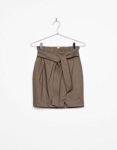 jupe courte trench avec nud nouveauts bershka france