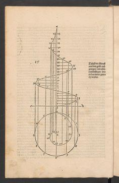 Durer_Underweisung der Messung, trace d'une limacon courbe_1525