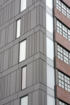 Northeastern University Parcel 18, Boston (USA) by Kyu Sung Woo Architect   #facade #usa #quartz-zinc #building #zinc