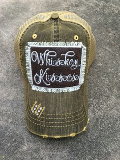 Whiskey Kisses Trucker Hat  kaykayskollections 3f13f2c01a22