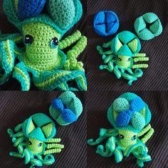 Doudou puzzle pieuvre crocheté
