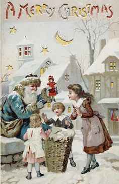 victorian era christmas cards ; FatherChristmas