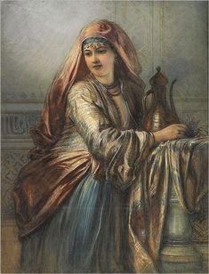 Egron Sillif Lundgren (swedish, - Palace Interior with Oriental Woman Historical Art, Historical Pictures, Pictures To Paint, Art Pictures, Photos, Palace Interior, Arabian Women, Portraits, Arabian Nights