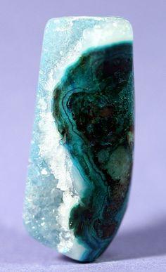 Reversible GemSilica or Druzy Chrysocolla /  Ray Mine, Arizona