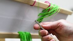 warping - double heddle (rigid heddle loom)