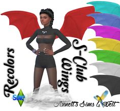 Sims 4 CC's - The Best: S-Club Wings - Recolors by Annett85