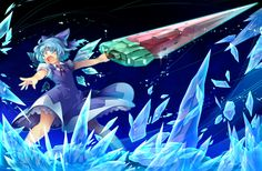 Cirno would look a lot more epic if her sword didn't look like a giant watermelon popsicle.