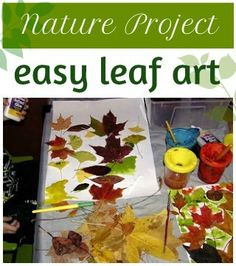 This easy leaf art is a fun nature project to do with kids, especially in the fall when the trees are changing colors.
