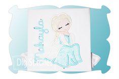 Pretty Princess 1 Applique - DigiStitches Machine Embroidery Designs