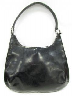 shopgoodwill.com: Ferragamo Black Swag Bag AUTHENTICATED