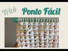 Ponto Fácil em Tricô 09 - YouTube U Tube, Chevron, Knitting, Album, Handmade, Macrame, Crafting Recipes, Knitting For Kids, How To Knit