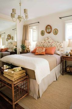 Like the rug and beige y/ivory look for a guest room. Diy Home Decor Bedroom, Bedroom Themes, New Bedroom Design, Bedroom Furniture, Room Ideas Bedroom, Bedroom Designs, Girls Bedroom, Master Bedroom, Spare Bedroom Ideas On A Budget