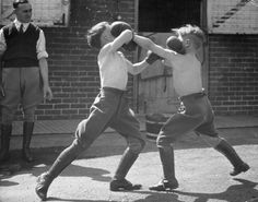 vintage boy fight