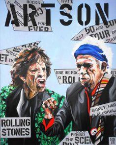 Saatchi Online, Keith Richards, Magazine Art, Rolling Stones, Rock Bands, Pop Culture, Pop Art, Saatchi Art, Artwork