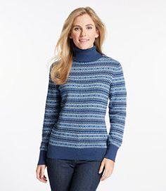 #LLBean: Cotton/Cashmere Sweater, Turtleneck Fair Isle
