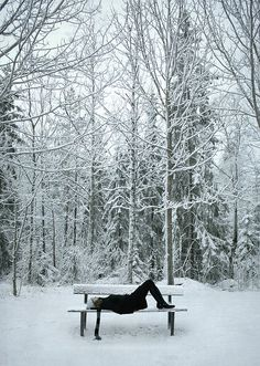 Snow gazing... I do this all the time at the park. #Winter