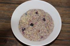 Porridge végétal aux myrtilles