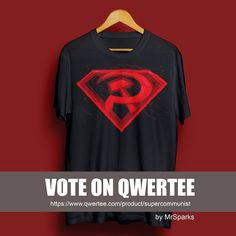 """Hi Guys!! I uploaded a new design to Qwertee and I need your help (if you like my designs of course ). It's a design about a superman's comic titled """"Superman: Red Son""""  I hope you like it!  https://www.qwertee.com/product/supercommunist  #tshirt #illustration #superman #redson #qwertee #bloody #digitalart #comic #instasale #instalove #instadesign #sale #fashion"""