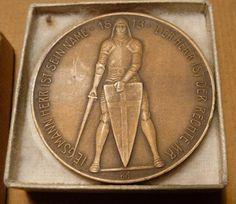Abz. Leipzig Bronzeplakette Völkerschlacht 100 Jahre _ eBay Rückseite