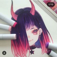 Learn To Draw Manga - Drawing On Demand Copic Drawings, Anime Drawings Sketches, Anime Sketch, Kawaii Drawings, Manga Drawing, Manga Art, Cute Drawings, Smile Drawing, Copic Marker Art