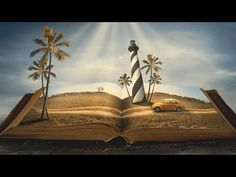 Photoshop Manipulation Tutorial - Story Book Vacation - YouTube Photoshop For Photographers, Photoshop Photography, Photoshop Tutorial, Photoshop Actions, Adobe Photoshop, Photography Basics, Book Images, Photo Manipulation, Photo Editing