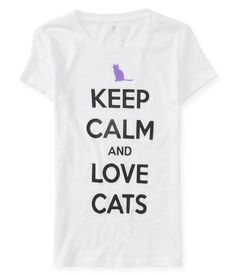 Keep Calm And Love Cats Graphic T -