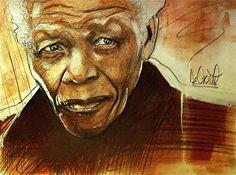 Older Mandela by artist Gregory Degroat. #artwork found on the FASO Daily Art Show -- http://dailyartshow.faso.com
