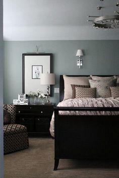 Bedroom with Dark Furniture Elegant 40 Hearsay Lies and Relaxing Master Bedroom Decor Dark Bedroom Decor Dark, Painted Bedroom Furniture, Trendy Bedroom, Bedroom Sets, Girls Bedroom, Dark Wood Furniture, Luxury Furniture, Dream Bedroom, Modern Bedroom